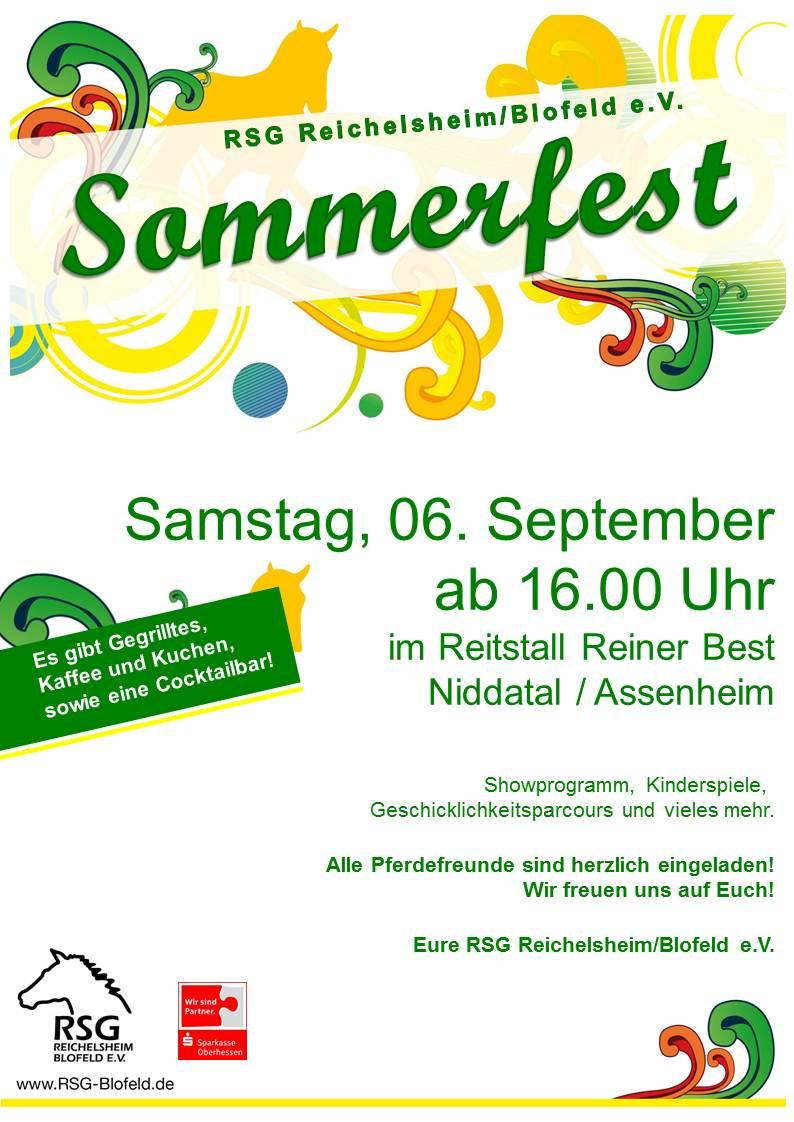Sommerfest am Samstag, den 06.09.14