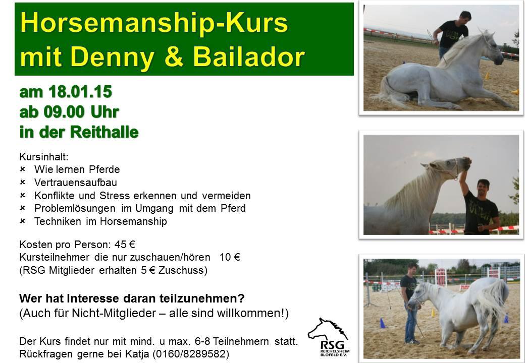 Horsemanship-Kurs am 18.01.15