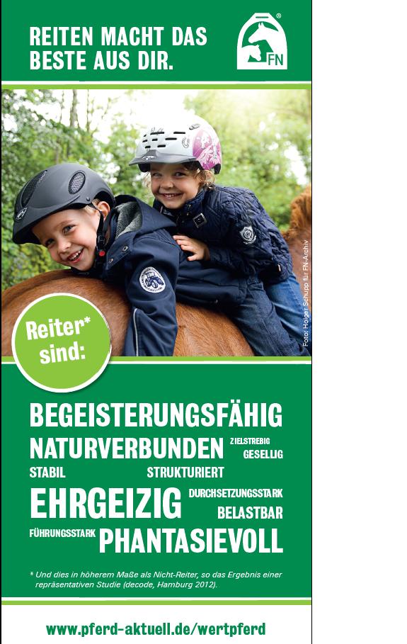 FN-Studie: Pferde tun Deutschland gut